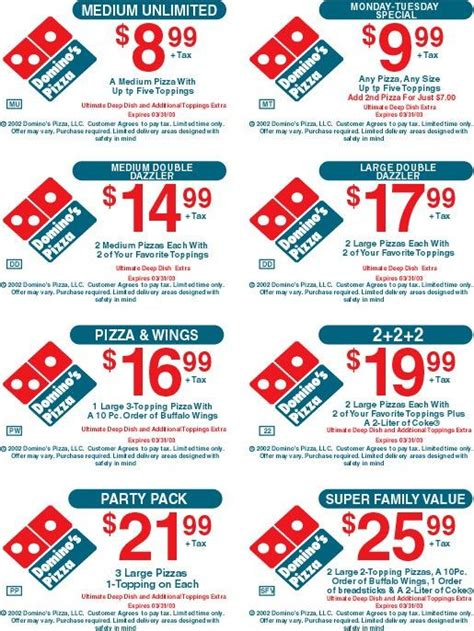 Online Coupon Code Dominos Pizza